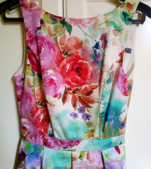 Virágos romantikus vintage  ruha