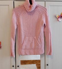 Rózsaszín kötött pulcsi