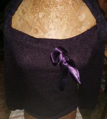 M-es lila kötött pulóver