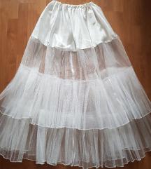 ÚJ, tüllös esküvői, menyasszonyi alsószoknya