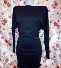Új sötétkék,egyszerű lezser mini ruha S-M,M kb.