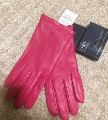 M&S eredeti bőr pink kesztyű