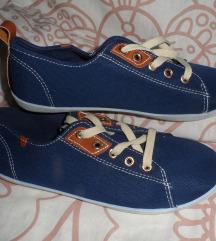 Indigókék vászon sneaker