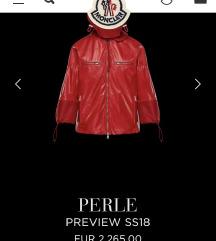Moncler Perle eredeti női bőr kabát -Új-4-es
