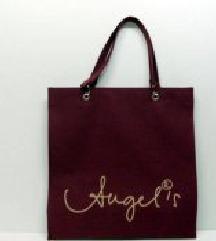 🍄 Divatos Angel's szatyor, kézi táska, bordó
