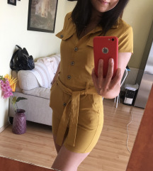 Mustársárga overál