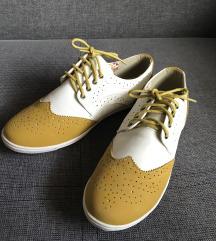 Sárga-fehér elegáns tornacipő