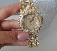 Michael Kors stílusú óra, új, fóliás, arany színű