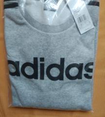 Új, L-es Adidas,csíkos, vastag, szürke felső
