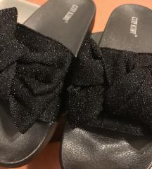 Fekete masnis papucs új!