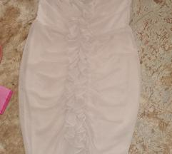 40-es H&M drapp muszlin ruha