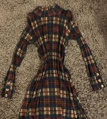 Pull&Bear csinos garbó ruha elegáns kockás