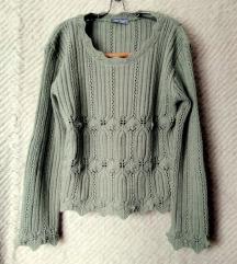 Zöld pulóver (36) AKCIÓ
