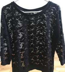 Fekete áttetsző pulóver