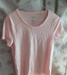 Új, biopamut pamut rózsaszín lézervágott póló