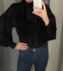 H&M fekete puffos ujjú blúz