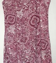 Bordó - krémszínű ruha