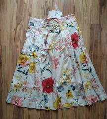 Orsay 36-os szoknya színes virágos - címkés S