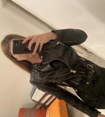 Új ZARA Zip Leather Jacket