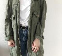 Khaki színű oversized kardigán