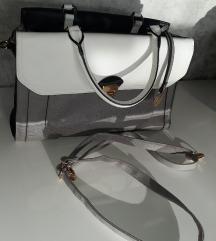 Fehér, fekete szürke színű női táska