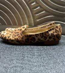 leopárd mintás olasz loafer