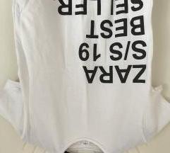 Fehér feliratos Zara póló