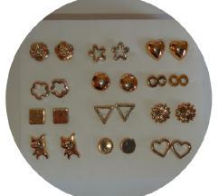 ÚJ 12 pár bizsu bedugós fülbevaló - arany színű