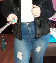 Zara szőrmés fekete kardigán/dzseki