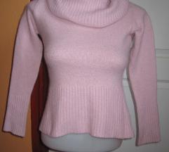 S-es Clockhouse vasrag rózsaszín női pulóver