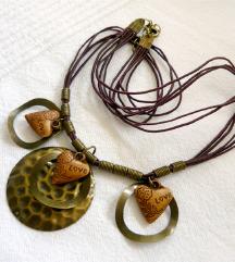Újszerű tribal óarany-barna ékszerszett ❤