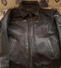 Montonelli velúr férfi bőrkabát, fekete, XL