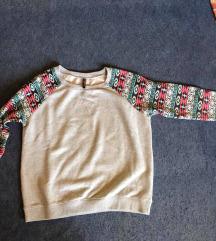 Mintás ujju pulóver