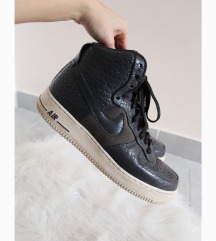 Nike Air Force 1 High Premium szürke bőr cipő