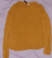 Mustársárga pulcsi XS