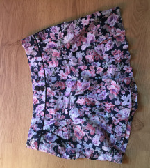 topshop virágos short