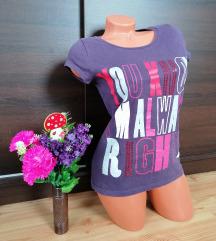 Kék lila színes feliratos felső / póló