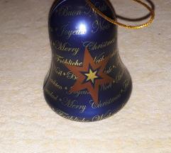 új karácsonyi fém harang dísz
