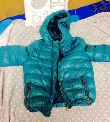 Őszi/téli türkiz színű kabát