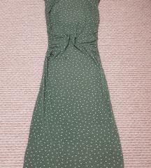 Zöld pöttyös nyári ruha