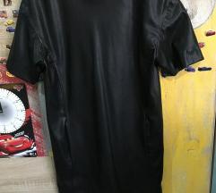 Zara műbőr ruha S