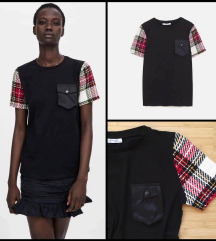 Új Zara kockás ujjú póló