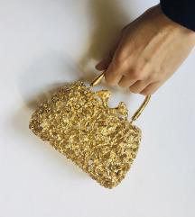 AranySzínű fémveretes kis luxustáska
