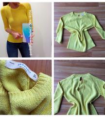 Zara sárga pulóver