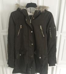 Sötétzöld téli kabát