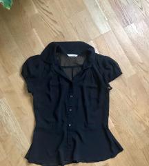 Újszerű fekete vékony átlátszó bluz 38