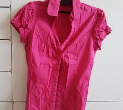Pink rövidujjú csinos blúz