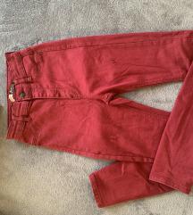 Bordó magasított derekú nadrág