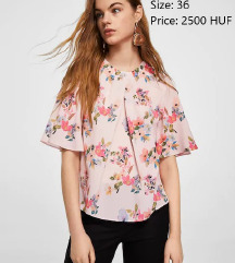 MANGO flower blouse
