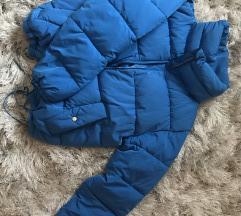 Kék pull&bear pufi kabát